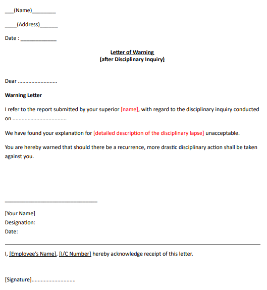 Example Of Verbal Warning Letter from www.ajobthing.com