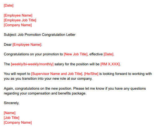 Promotion Letter To Employee from www.ajobthing.com